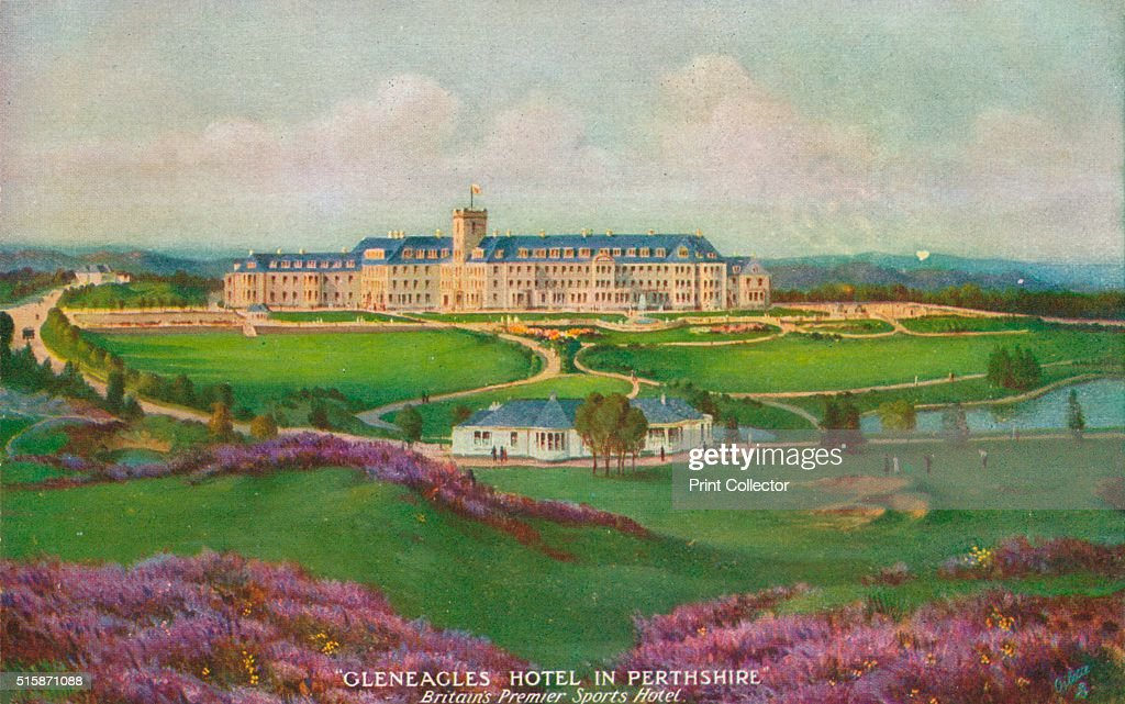 Gleneagles Hotel in Perthshire' circa 1930 Gleneagles Hotel Perth Scotland The hotel opened in 1924 built by the former Caledonian Railway Company...