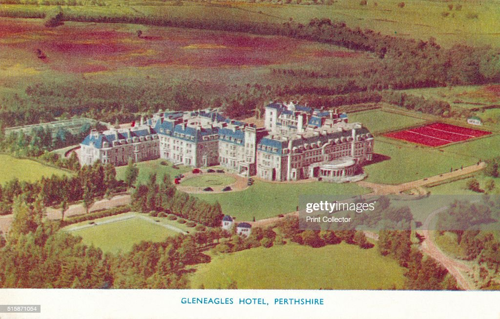Gleneagles Hotel Perthshire' circa 1930 Gleneagles Hotel Perth Scotland The hotel opened in 1924 built by the former Caledonian Railway Company and...