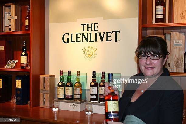 Glenlivet owned by the Chivas Brothers and as shown by lass Shawn Kelley at the distillery is among the most treasured of all Highlands whiskies