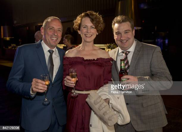 Glenn and Anita Blokkeerus and Matt Hill at Peninsula on September 03 2017 in Docklands Australia