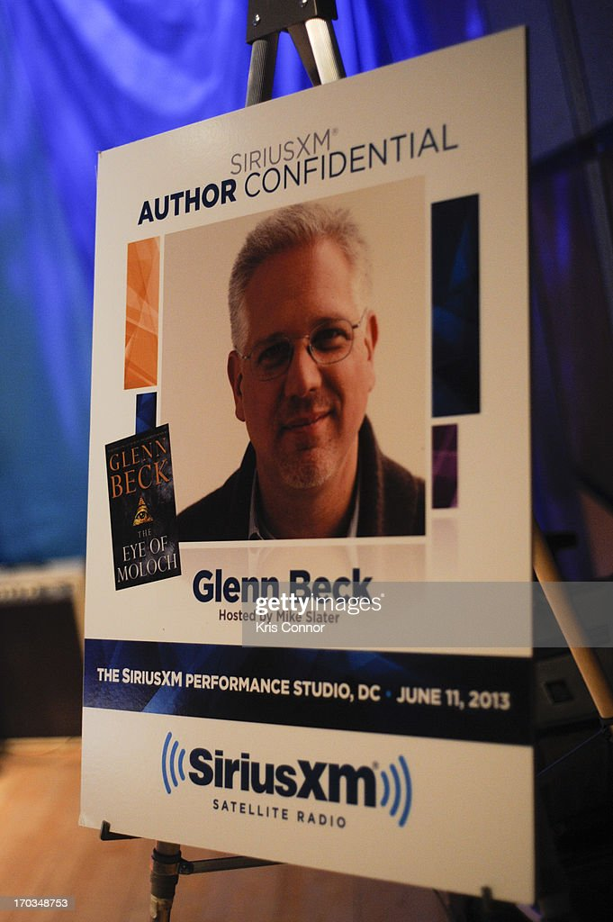 Glenn Beck discusses his new book 'Eye of Moloch' with SiriusXM Patriot host Mike Slater on SiriusXM's 'Author Confidential with Glenn Beck' at SIRIUS XM Studio on June 10, 2013 in Washington, DC.