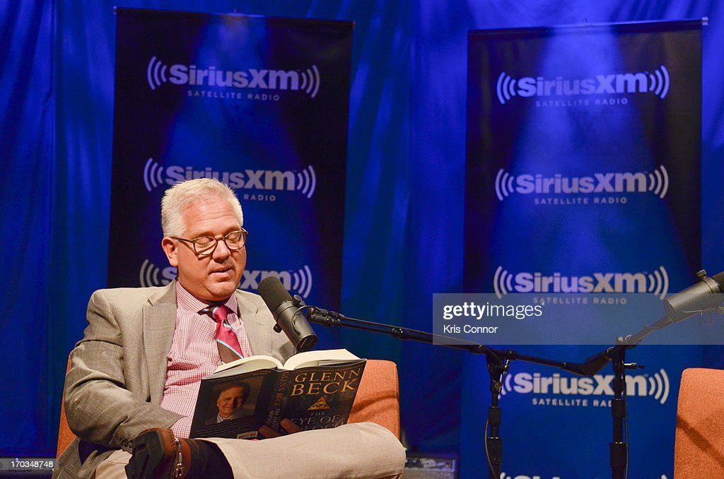 <a gi-track='captionPersonalityLinkClicked' href=/galleries/search?phrase=Glenn+Beck&family=editorial&specificpeople=3267771 ng-click='$event.stopPropagation()'>Glenn Beck</a> discusses his new book 'The Eye of Moloch' with SiriusXM Patriot host Mike Slater on SiriusXM's Author Confidential with <a gi-track='captionPersonalityLinkClicked' href=/galleries/search?phrase=Glenn+Beck&family=editorial&specificpeople=3267771 ng-click='$event.stopPropagation()'>Glenn Beck</a> at SIRIUS XM Studio on June 10, 2013 in Washington, DC.