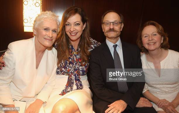 Glenn Close Allison Janney David Hyde Pierce and Kate Burton pose at the 2017 Drama League Awards Luncheon at The Marriott Marquis Times Square on...