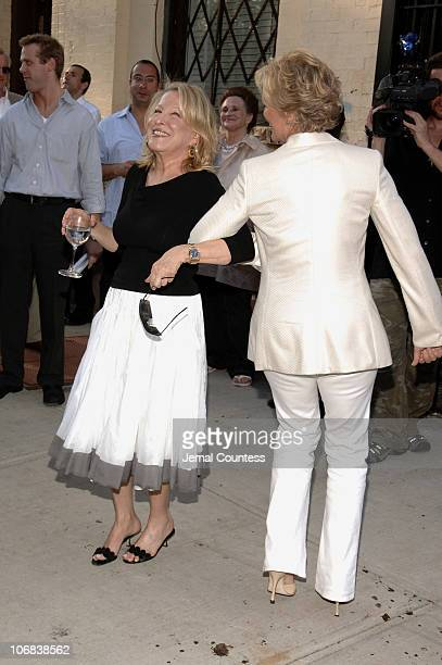Glenn Close and Bette Midler during Bette Midler's Restoration Project Celebrates the Opening of the Rodale Pleasant Park Community Garden at it's...