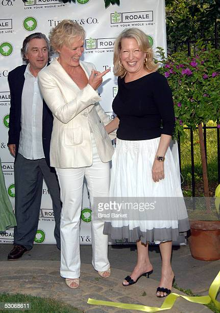 Glenn Close and Bette Midler share a moment at Bette Midler's New York Restoration Project's 4th Annual Picnic at Spanish Harlem's Thomas Jefferson...