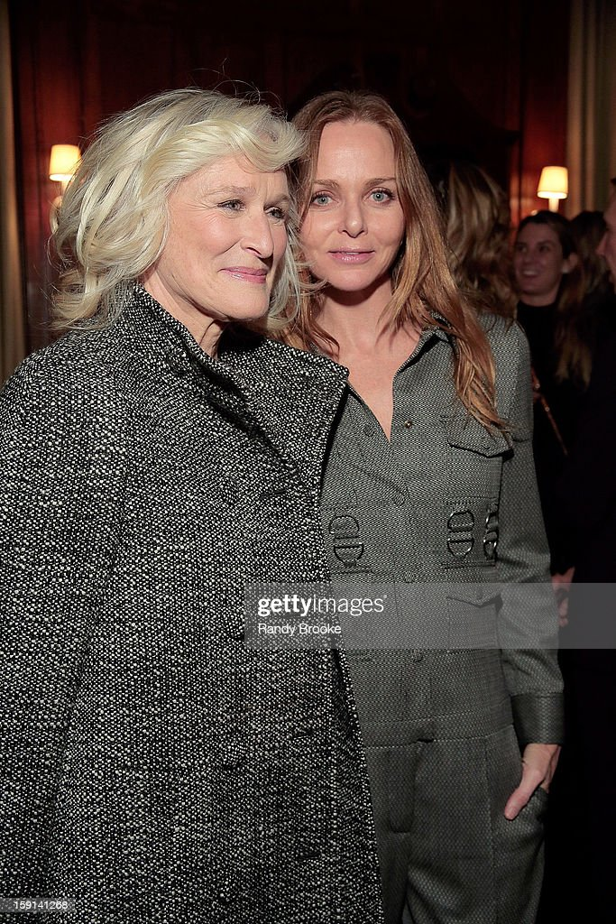 <a gi-track='captionPersonalityLinkClicked' href=/galleries/search?phrase=Glenn+Close&family=editorial&specificpeople=201870 ng-click='$event.stopPropagation()'>Glenn Close</a> and host Stella McCartney attend the Stella McCartney Autumn 2013 Presentation at 680 Park Avenue on January 8, 2013 in New York City.