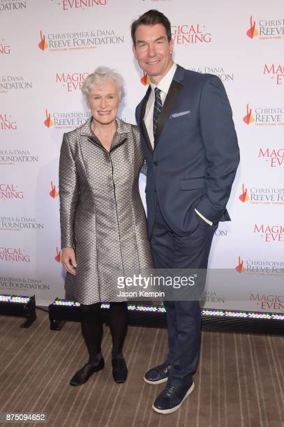 Glenn Close and Jerry O'Connell attend 'A Magical Evening' Gala hosted by The Christopher Dana Reeve Foundation a at Conrad Hotel on November 16 2017...