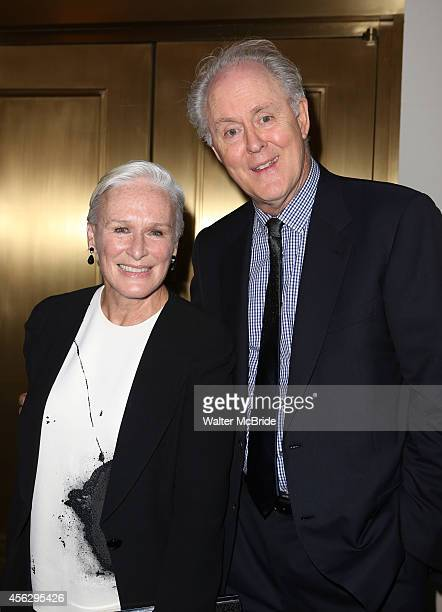 Glenn Close and John Lithgow attends the Broadway Opening Night performance of 'You Can't Take It With You' at the Longarce Theatre on September 18...