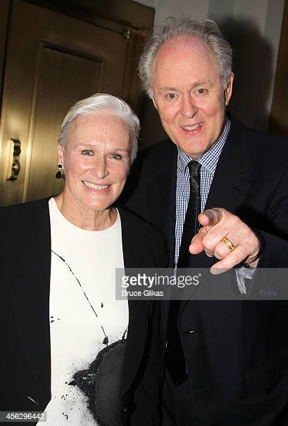 Glenn Close and John Lithgow pose at the Opening Night of 'You Can't Take It With You' on Broadway at The Longacre Theatre on September 28 2014 in...