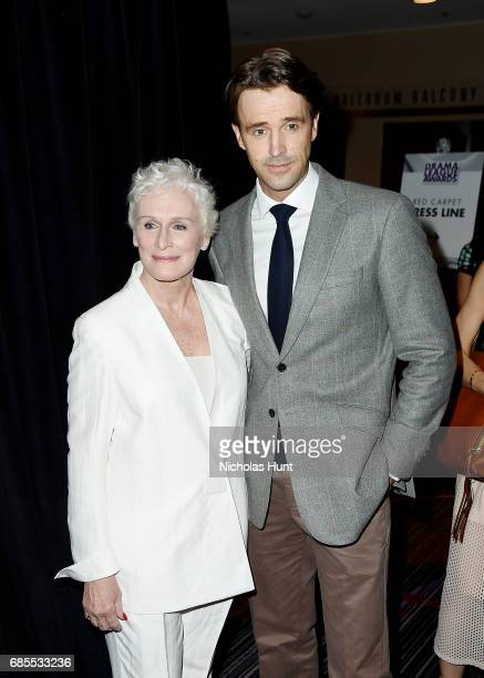 Glenn Close and Michael Xavier attend the 83rd Annual Drama League Awards Ceremony and Luncheonat Marriott Marquis Times Square on May 19 2017 in New...