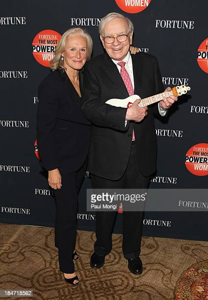 Glenn Close and Warren Buffett attend the FORTUNE Most Powerful Women Summit on October 15 2013 in Washington DC