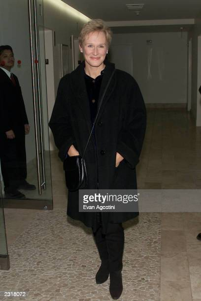 Glenn Close arriving at the world film premiere of Miramax's 'Iris' afterparty at the Fred's in New York City 12/2/2001 Photo Evan...