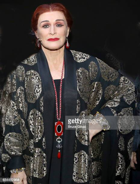 Glenn Close as 'Norma Desmond' poses backstage at the Opening Night of 'Sunset Boulevard' on Broadway at The Palace Theatre on February 9 2017 in New...