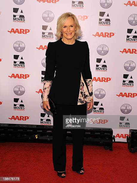 Glenn Close attends AARP Magazine's 11th Annual Movies for Grownups Awards Gala at the Beverly Wilshire Four Seasons Hotel on February 6 2012 in...