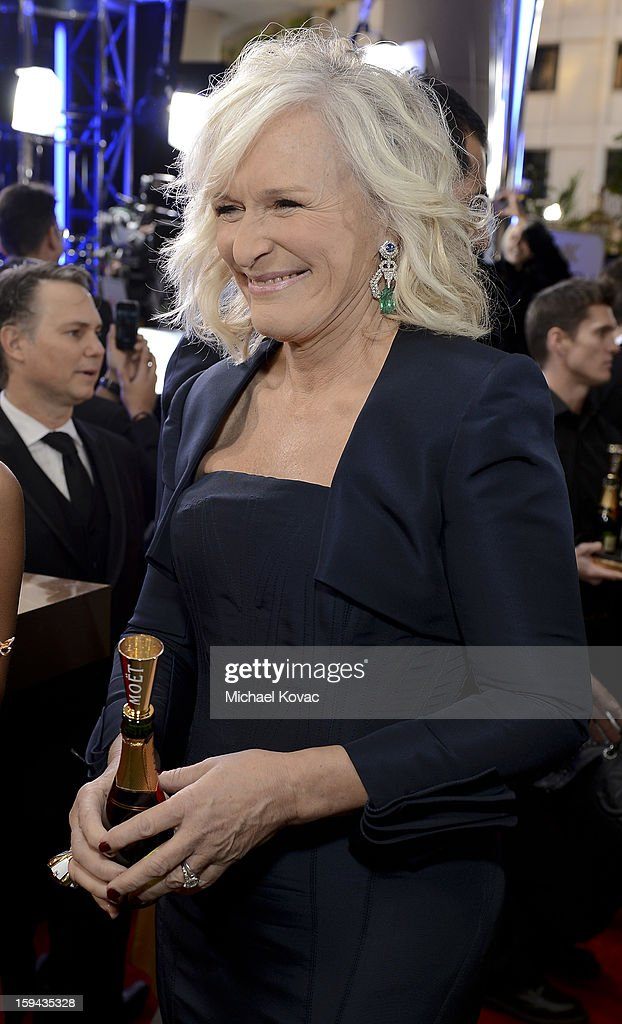 Glenn Close attends Moet & Chandon At The 70th Annual Golden Globe Awards Red Carpet at The Beverly Hilton Hotel on January 13, 2013 in Beverly Hills, California.