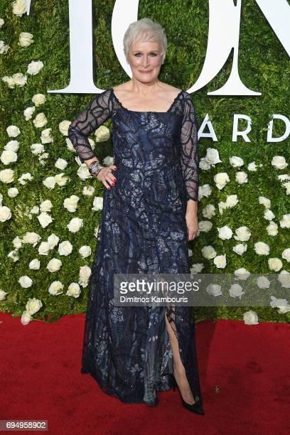 Glenn Close attends the 2017 Tony Awards at Radio City Music Hall on June 11 2017 in New York City