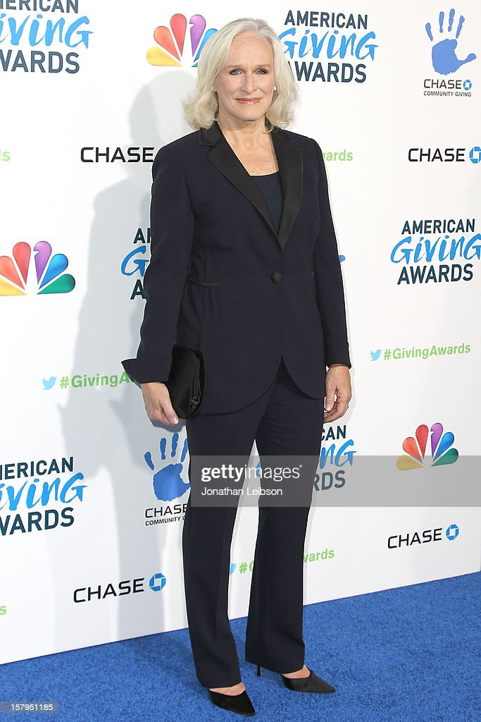 Glenn Close attends the 2nd Annual American Giving Awards Arrivals at Pasadena Civic Auditorium on December 7 2012 in Pasadena California