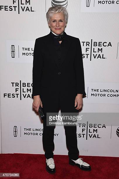 Glenn Close attends the 'Anesthesia' premiere during the 2015 Tribeca Film Festival at BMCC Tribeca PAC on April 22 2015 in New York City