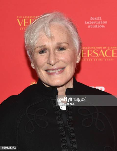 Glenn Close attends 'The Assassination Of Gianni Versace American Crime Story' New York Screening at Metrograph on December 11 2017 in New York City