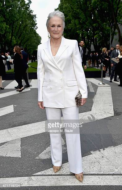 Glenn Close attends the Giorgio Armani 40th Anniversary Silos Opening And Cocktail Reception on April 30 2015 in Milan Italy