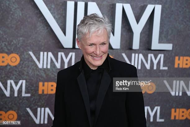 Glenn Close attends the New York Premiere of 'Vinyl' at Ziegfeld Theatre on January 15 2016 in New York City