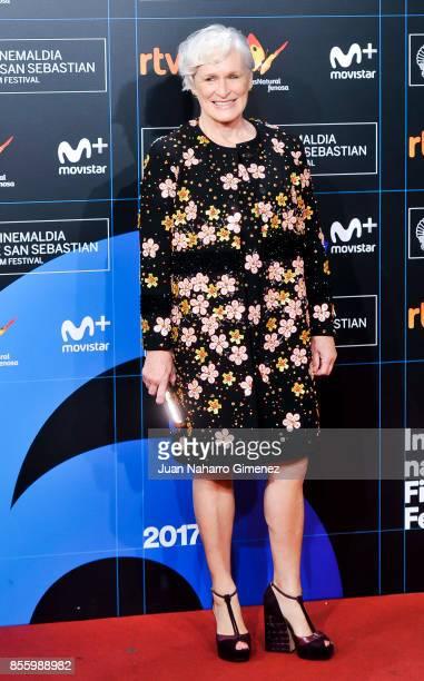 Glenn Close attends the red carpet of the closure gala during 65th San Sebastian Film Festival at Kursaal on September 30 2017 in San Sebastian Spain