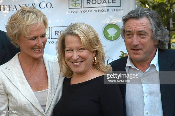 Glenn Close Bette Midler and Robert DeNiro attend Bette Midler's New York Restoration Project's 4th Annual Spring Picnic at Thomas Jefferson Park on...