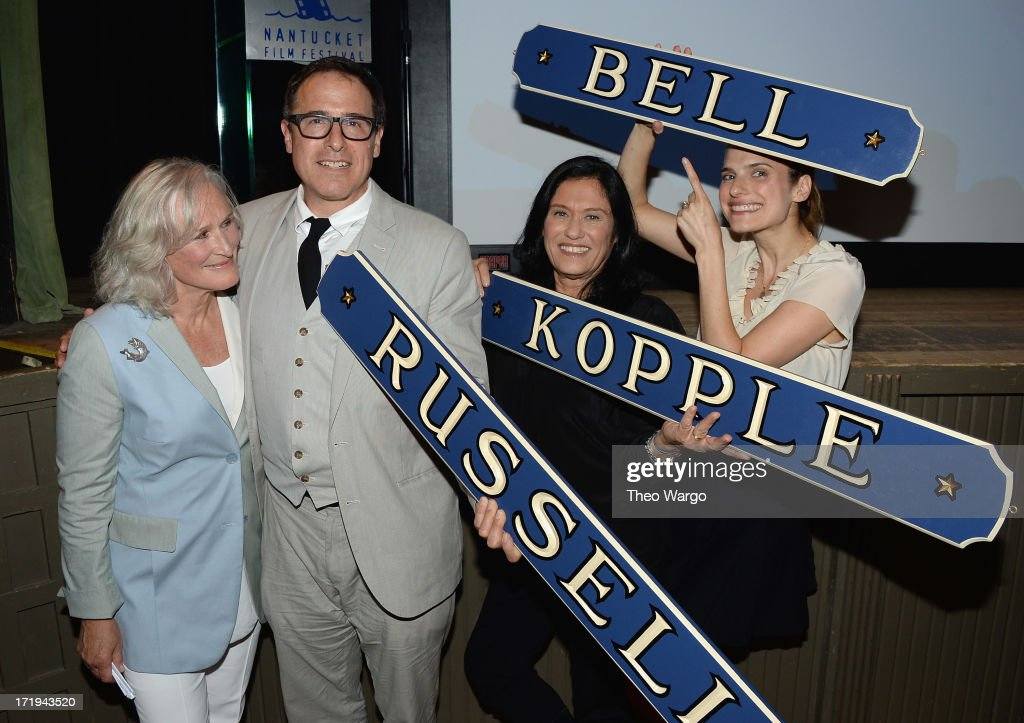 <a gi-track='captionPersonalityLinkClicked' href=/galleries/search?phrase=Glenn+Close&family=editorial&specificpeople=201870 ng-click='$event.stopPropagation()'>Glenn Close</a>, <a gi-track='captionPersonalityLinkClicked' href=/galleries/search?phrase=David+O.+Russell&family=editorial&specificpeople=215306 ng-click='$event.stopPropagation()'>David O. Russell</a>, <a gi-track='captionPersonalityLinkClicked' href=/galleries/search?phrase=Barbara+Kopple&family=editorial&specificpeople=228758 ng-click='$event.stopPropagation()'>Barbara Kopple</a> and <a gi-track='captionPersonalityLinkClicked' href=/galleries/search?phrase=Lake+Bell&family=editorial&specificpeople=209336 ng-click='$event.stopPropagation()'>Lake Bell</a> attend The 18th Annual Nantucket Film Festival's Screenwriters Tribute on June 29, 2013 in Nantucket, Massachusetts.