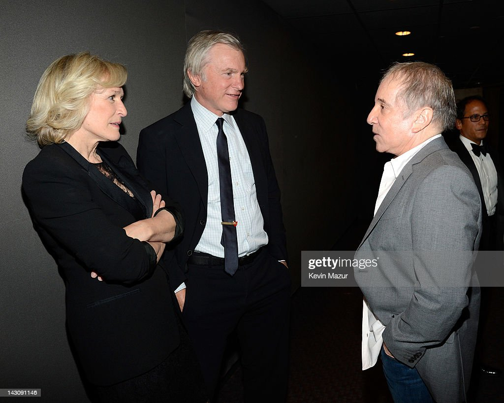 Glenn Close David Shaw and Paul Simon attend Paul Simon Wynton Marsalis Collaborate On 'The Paul Simon Songbook' With Special Guest Aaron Neville To...
