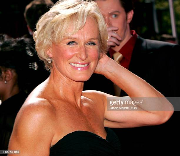 Glenn Close during 57th Annual Primetime Emmy Awards Arrivals at The Shrine in Los Angeles California United States