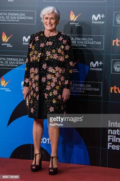 Glenn Close during 65th San Sebastian Film Festival Closure Gala at Kursaal on September 30 2017 in San Sebastian Spain