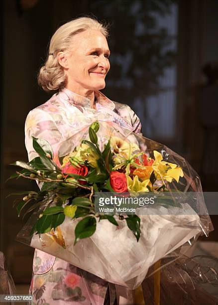 Glenn Close during a tearful Opening Night Curtain Call for 'A Delicate Balance' with a 'Happy Trails to You' singalong tribute to Mike Nichols at...