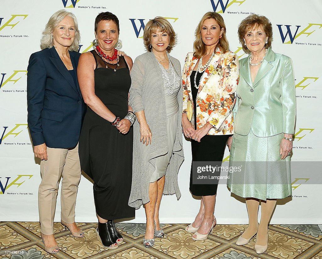 Glenn Close Eve Ensler Pat Mitchell Maria Cuomo Cole and Matilda Raffa Cuomo attend the 3rd Annual Elly Awards Luncheon at the Plaza Hotel on June 25...