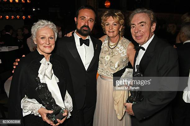 Glenn Close Evgeny Lebedev Lady Madeleine Lloyd Webber and Lord Andrew Lloyd Webber attend The 62nd London Evening Standard Theatre Awards after...