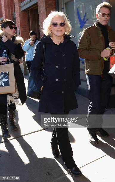 Glenn Close is seen around Park City on January 20 2014 in Park City Utah