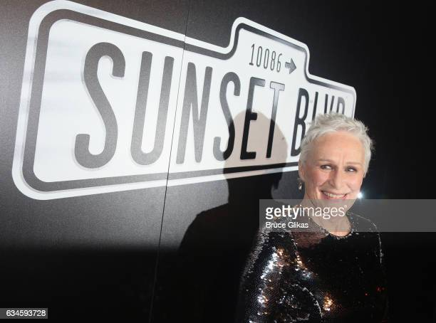 Glenn Close poses at the Opening Night Party for 'Sunset Boulevard' on Broadway at Cipriani 42nd Street on February 9 2017 in New York City