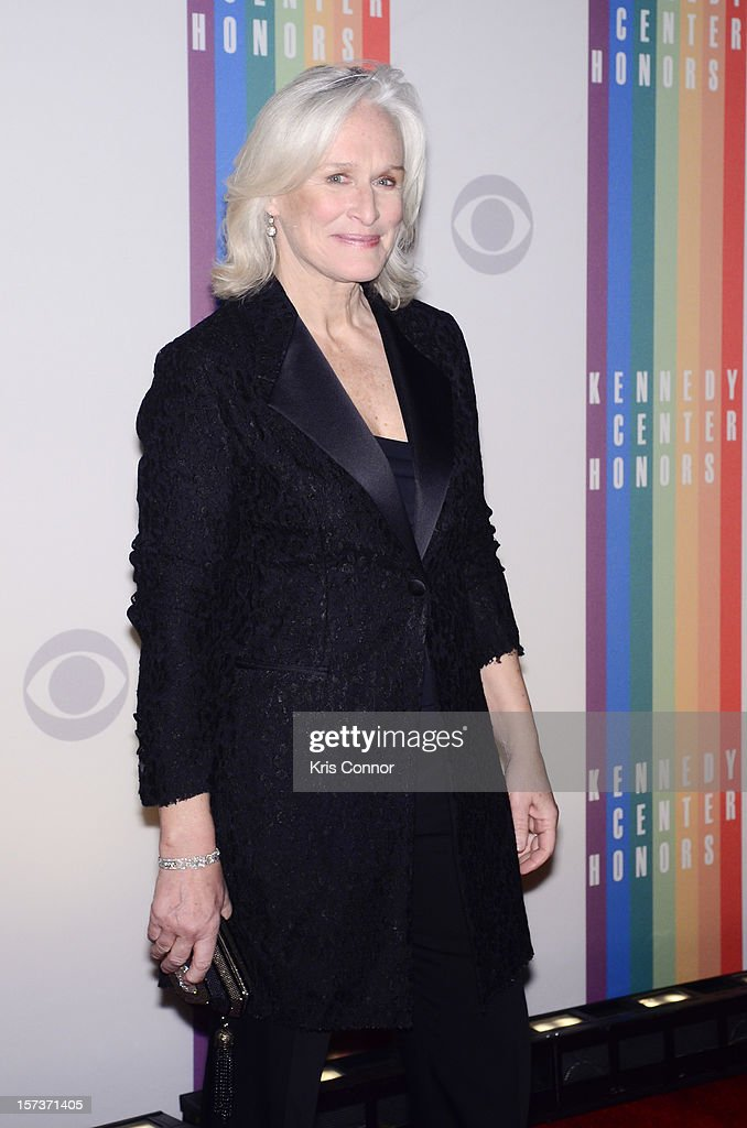 <a gi-track='captionPersonalityLinkClicked' href=/galleries/search?phrase=Glenn+Close&family=editorial&specificpeople=201870 ng-click='$event.stopPropagation()'>Glenn Close</a> poses for photographers during the 35th Kennedy Center Honors at the Kennedy Center Hall of States on December 2, 2012 in Washington, DC.