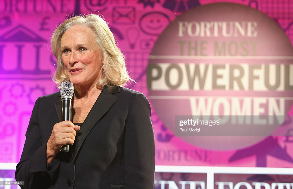 Glenn Close speaks onstage at the FORTUNE Most Powerful Women Summit on October 15, 2013 in Washington, DC.