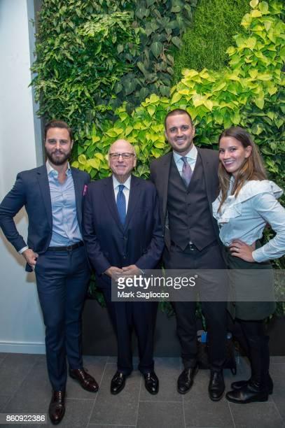 Glenn Davis Howard Lorber Justin Tuinstra and Skyler Rhoten attend the Alfa Development Launch Celebration on October 12 2017 in New York City
