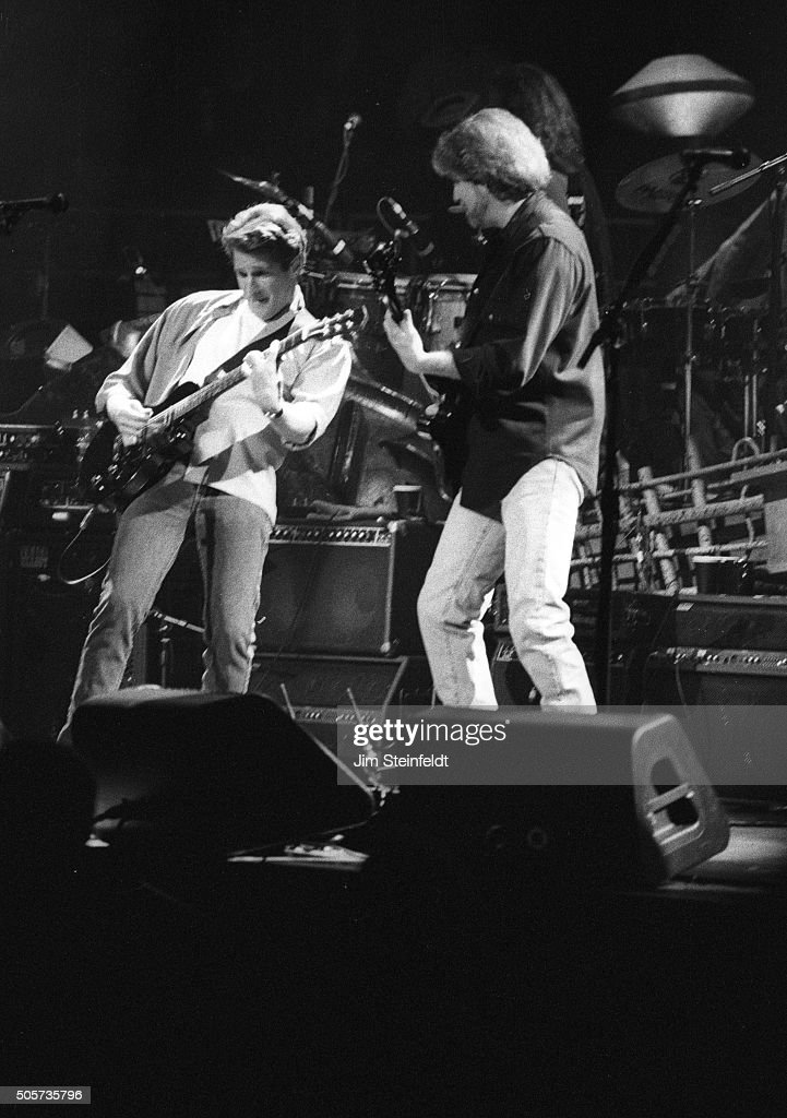Glenn Frey and Don Felder of the Eagles perform at the Target Center in Minneapolis Minnesota on February 22 1995