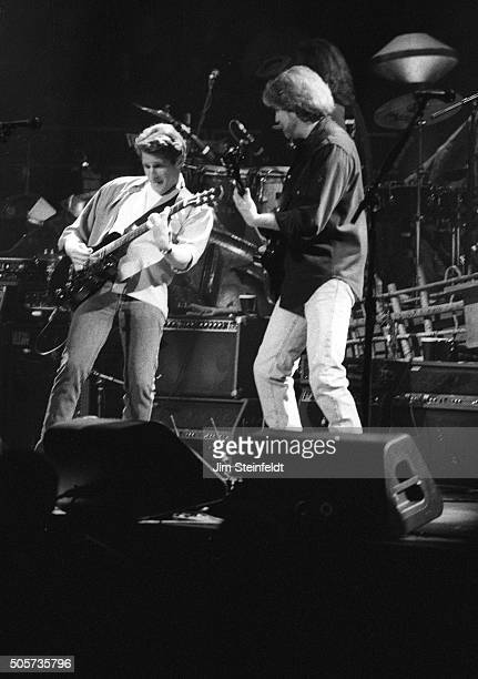 Glenn Frey and Don Felder of the Eagles perform at the Target Center in Minneapolis Minnesota on February 22 1995