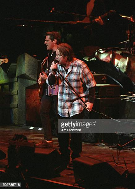 Glenn Frey and Don Henley of the Eagles perform at the Target Center in Minneapolis Minnesota on February 21 1995