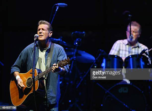 Glenn Frey and Don Henley of The Eagles perform live at Qantas Credit Union Arena on March 2 2015 in Sydney Australia