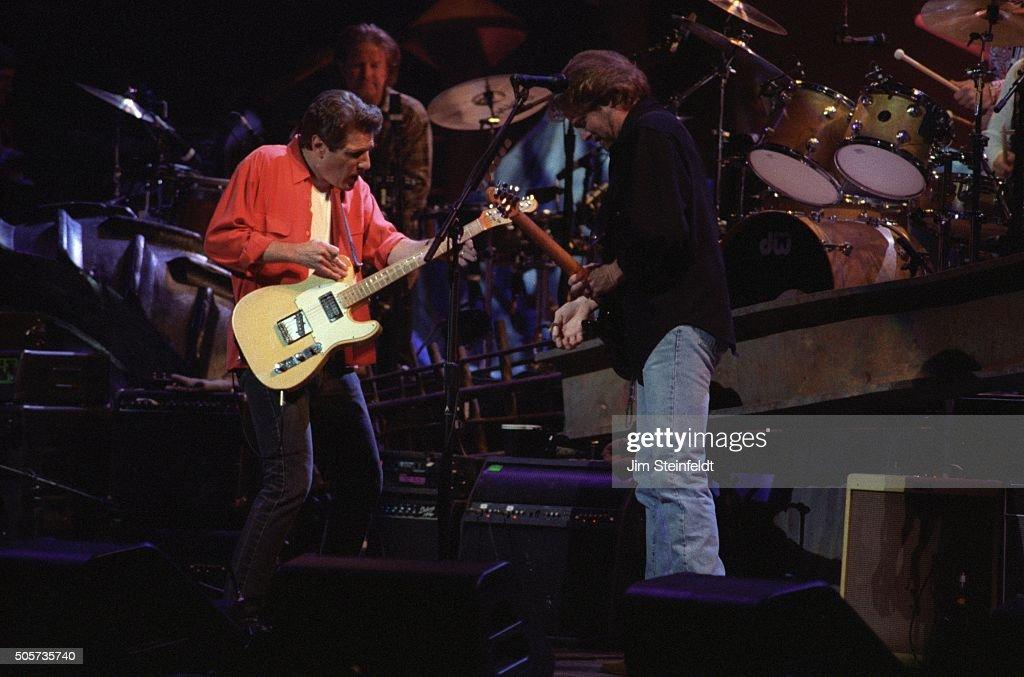Glenn Frey Don Henley and Don Felder of the Eagles perform at the Target Center in Minneapolis Minnesota on February 22 1995