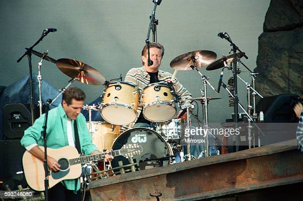 Glenn Frey of The Eagles performing live at the McAlpine Stadium in Huddersfield 10th July 1996