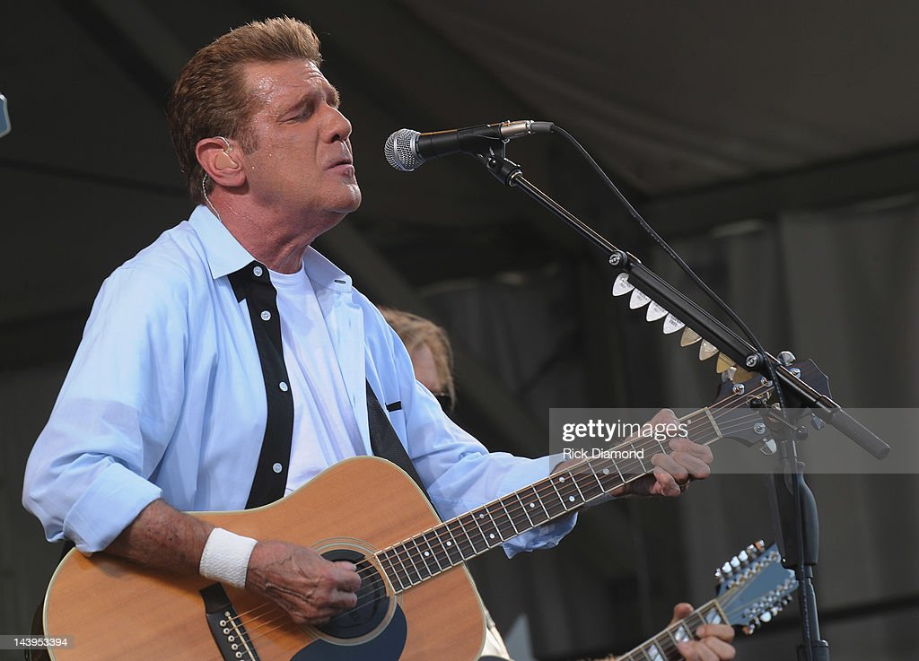<a gi-track='captionPersonalityLinkClicked' href=/galleries/search?phrase=Glenn+Frey&family=editorial&specificpeople=223995 ng-click='$event.stopPropagation()'>Glenn Frey</a> of the Eagles performs during the 2012 New Orleans Jazz & Heritage Festival - Day 6 at the Fair Grounds Race Course on May 5, 2012 in New Orleans, Louisiana.