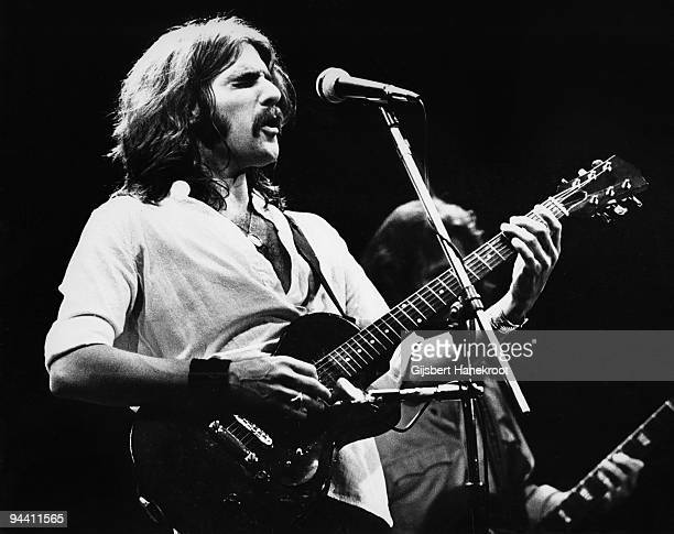 Glenn Frey of The Eagles performs on stage at Ahoy on May 11th 1977 in Rotterdam Netherlands