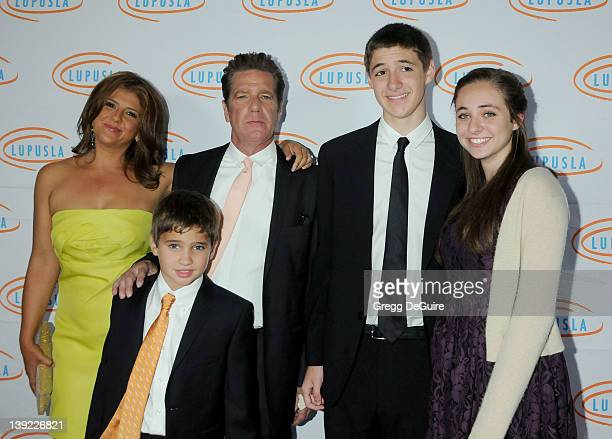 Glenn Frey wife Cindy and family arrive at the 10th Annual Lupus LA Orange Ball at the Beverly Wilshire Hotel on May 6 2010 in Beverly Hills...