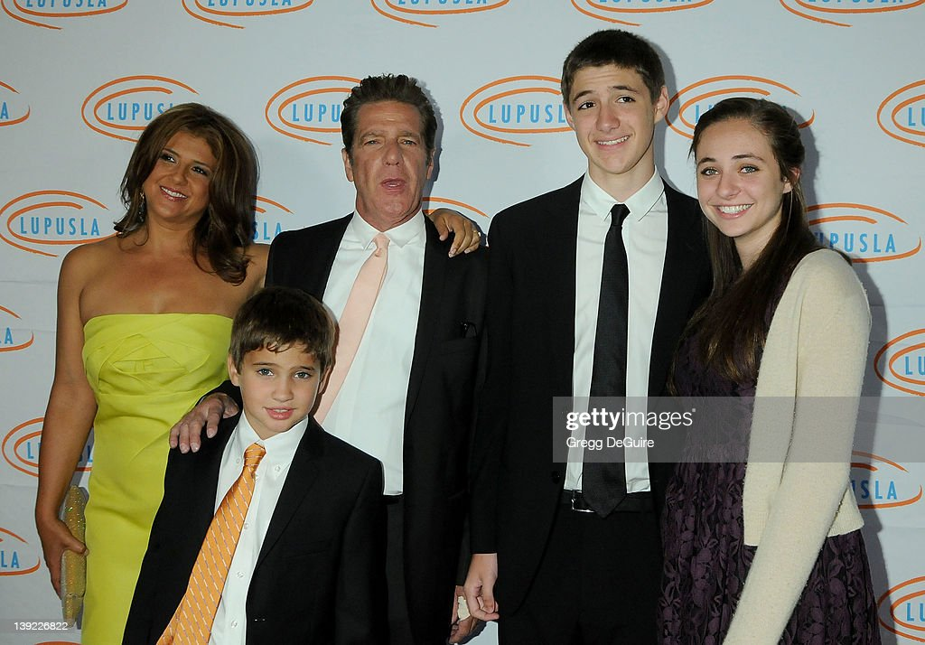 Glenn Frey, wife Cindy and family arrive at the 10th Annual Lupus LA Orange Ball at the Beverly Wilshire Hotel on May 6, 2010 in Beverly Hills, California.