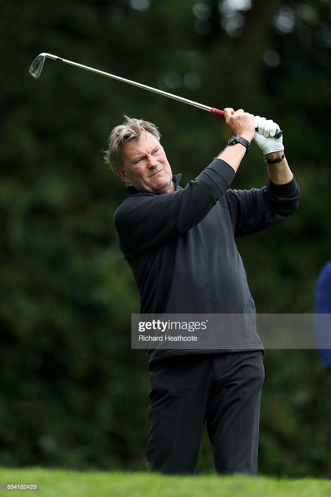 <a gi-track='captionPersonalityLinkClicked' href=/galleries/search?phrase=Glenn+Hoddle&family=editorial&specificpeople=217513 ng-click='$event.stopPropagation()'>Glenn Hoddle</a> in action during the Pro-Am prior to the BMW PGA Championship at Wentworth on May 25, 2016 in Virginia Water, England.